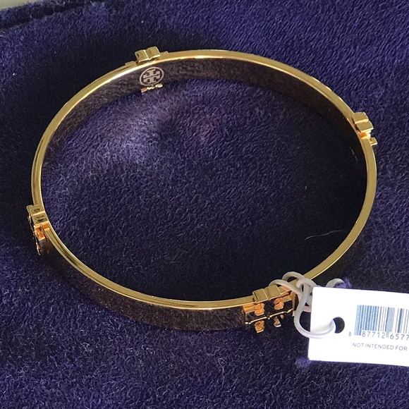 11692d64d8b9 BRAND NEW TORY BURCH T LOGO BANGLE GOLD BRACELET